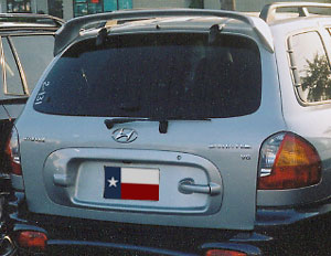 Spoiler Factory 2001-2006 Hyundai Santa Fe Spoiler Factory Style Unpainted at Sears.com